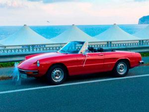 """Noleggio auto d'epoca Alfa Romeo Spider """"Coda Tronca"""" 1.3 Junior"""